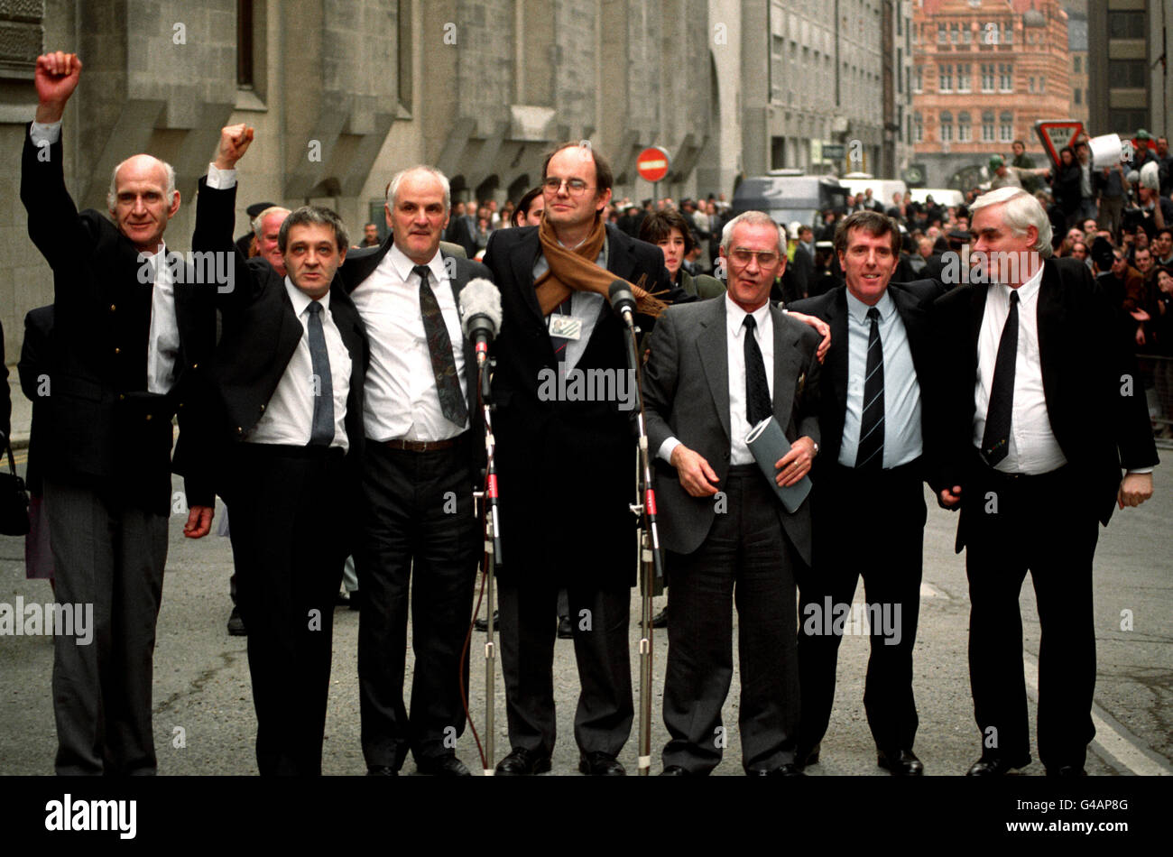 Birmingham Six celebrate victory - Stock Image