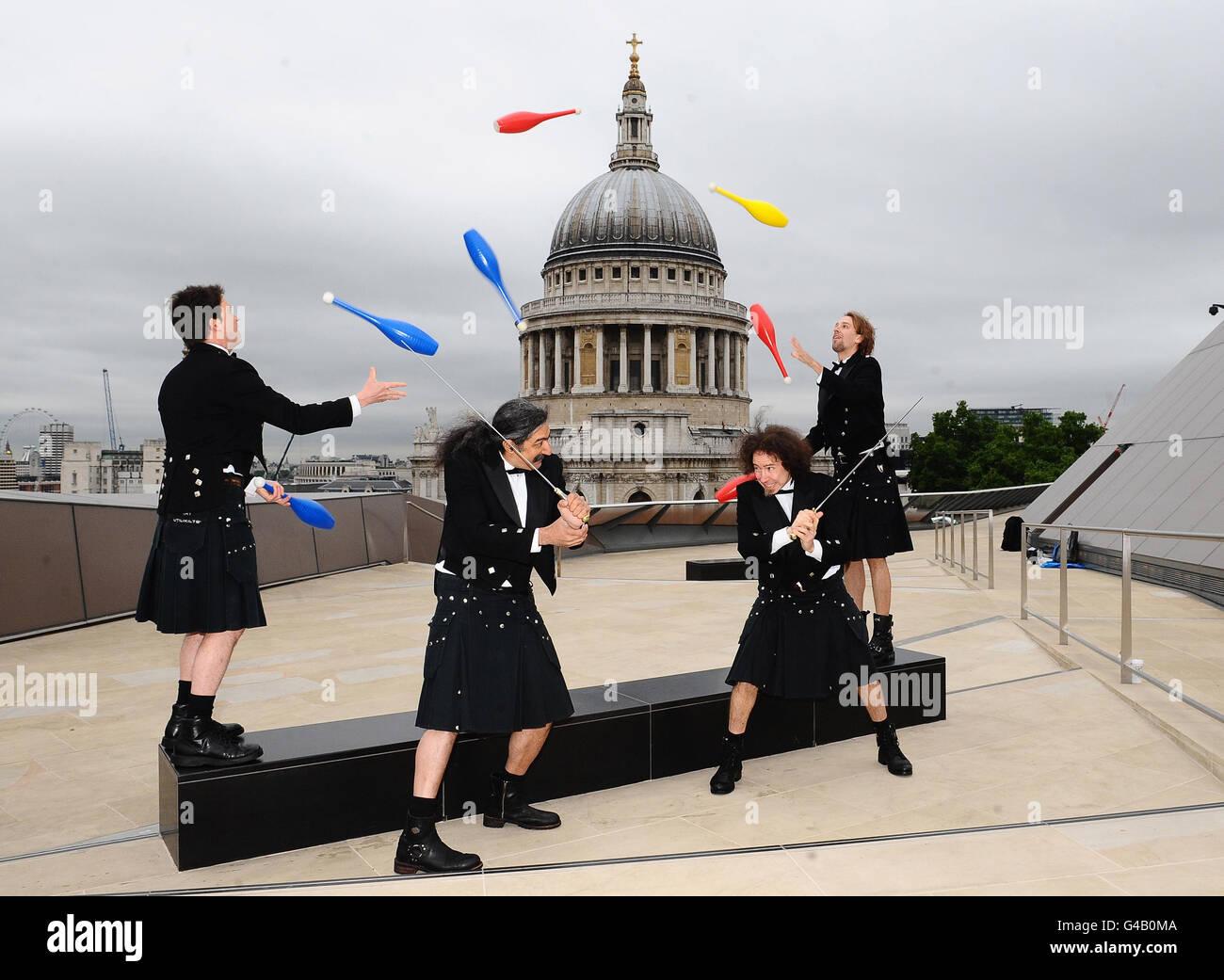 The Flying Karamazov Brothers - London - Stock Image