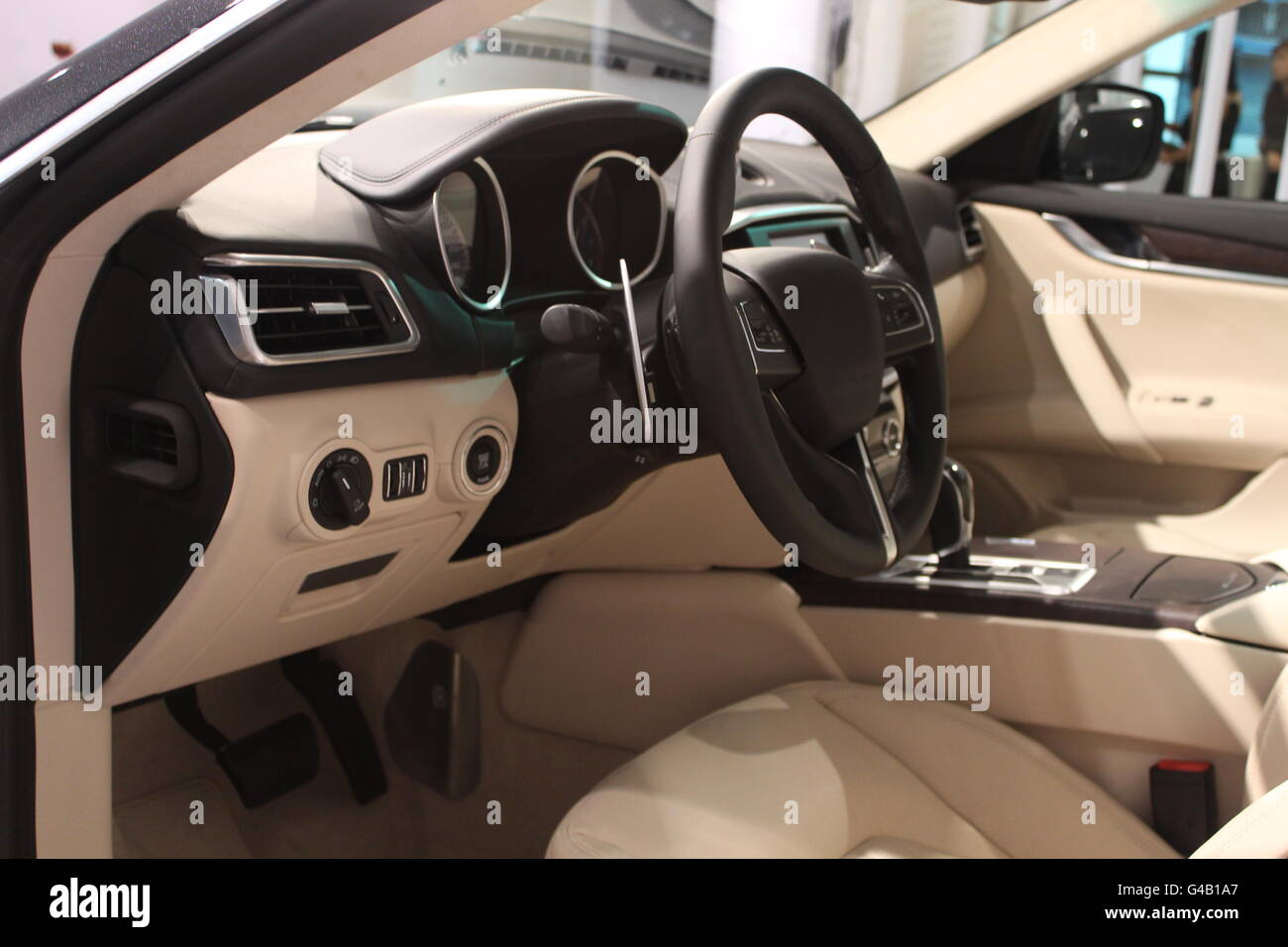 Luxury Car Interior Stock Photo 105963375 Alamy
