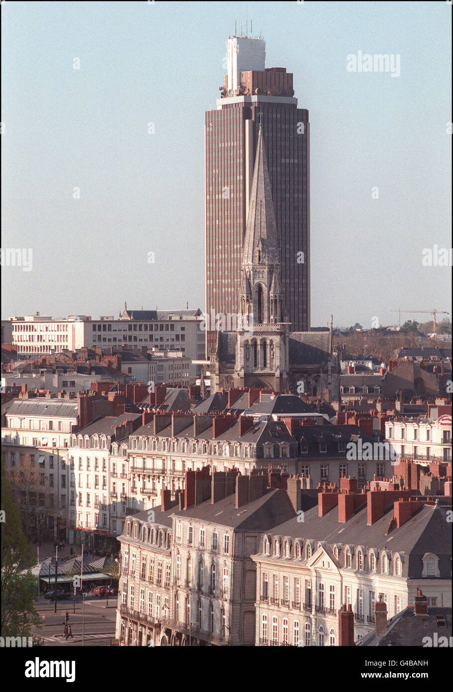 1998 World Cup AFP PHOTO View of theTour de Bretagne in Nantes, taken in April. Nantes is one of the ten cities - Stock Image