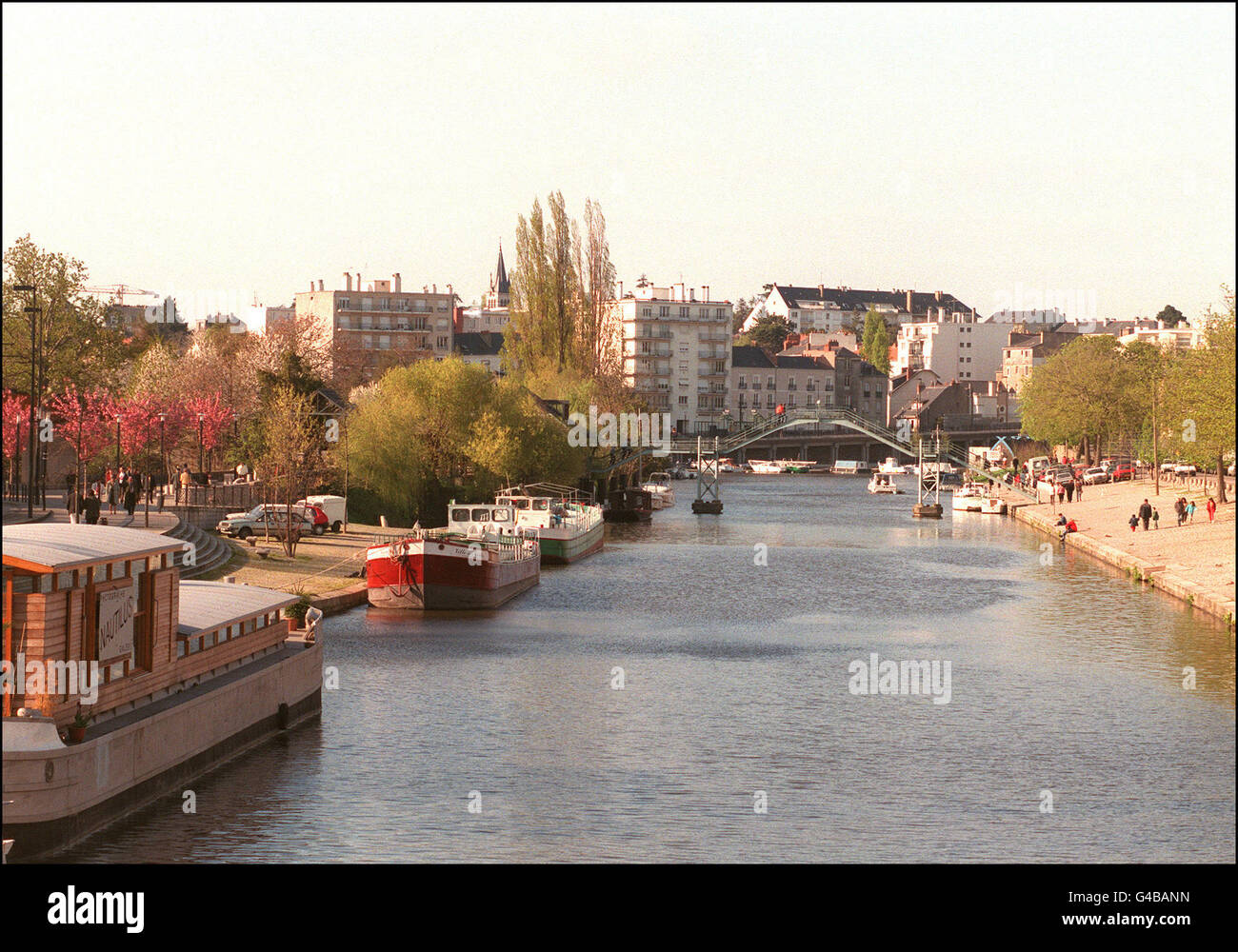1998 World Cup AFP PHOTO View of the Canal de l'Erdre iin Nantes, taken in April. Nantes is one of the ten cities - Stock Image