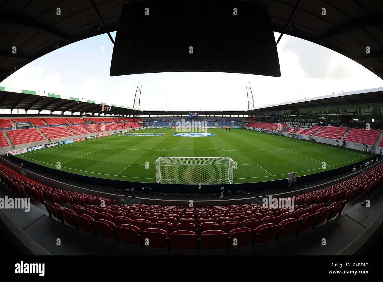 Soccer - UEFA European Under 21 Championship 2011 - Spain v England - Herning Stadium Stock Photo