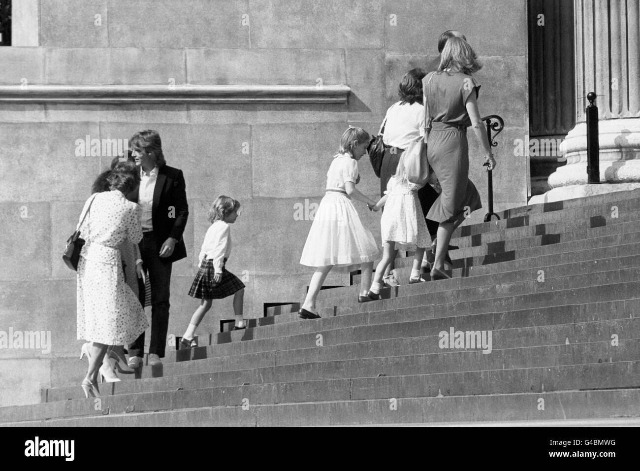 Royalty - Prince of Wales and Lady Diana Spencer Wedding preparations - St. Paul's Cathedral, London. - Stock Image