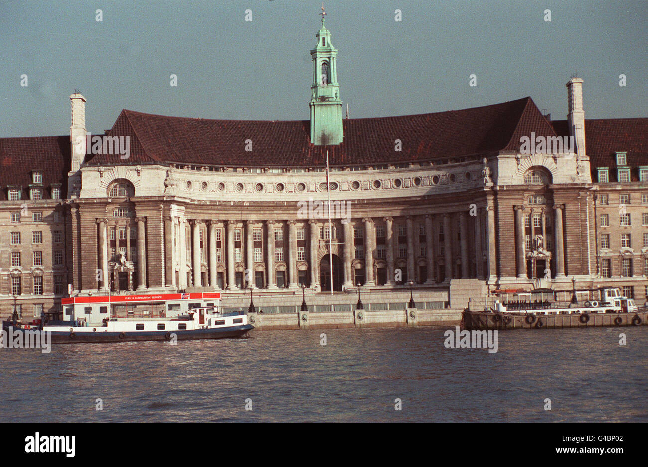 PA NEWS PHOTO MARCH 1990 COUNTY HALL, LONDON FORMER HEADQUARTERS OF THE GLC GREATER LONDON COUNCIL - Stock Image