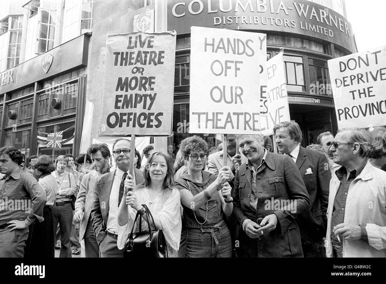 Theatre - Theatre Closures Equity Demonstration - Wardour Street, London Stock Photo