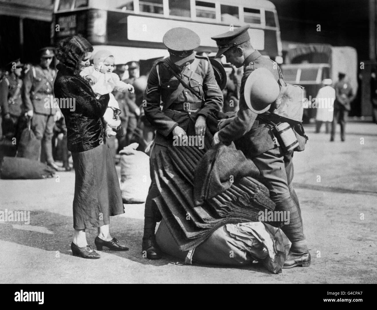 Military - Crisis Precautionary Measures - Territorial Army - London - Stock Image