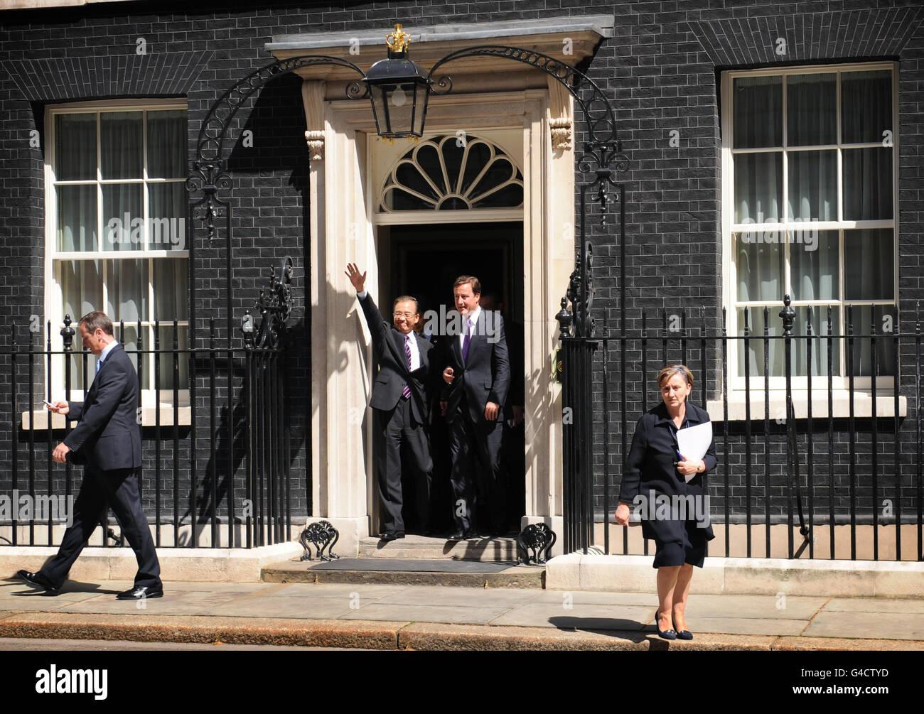Chinese Premier Wen Jiabao visits UK - Stock Image
