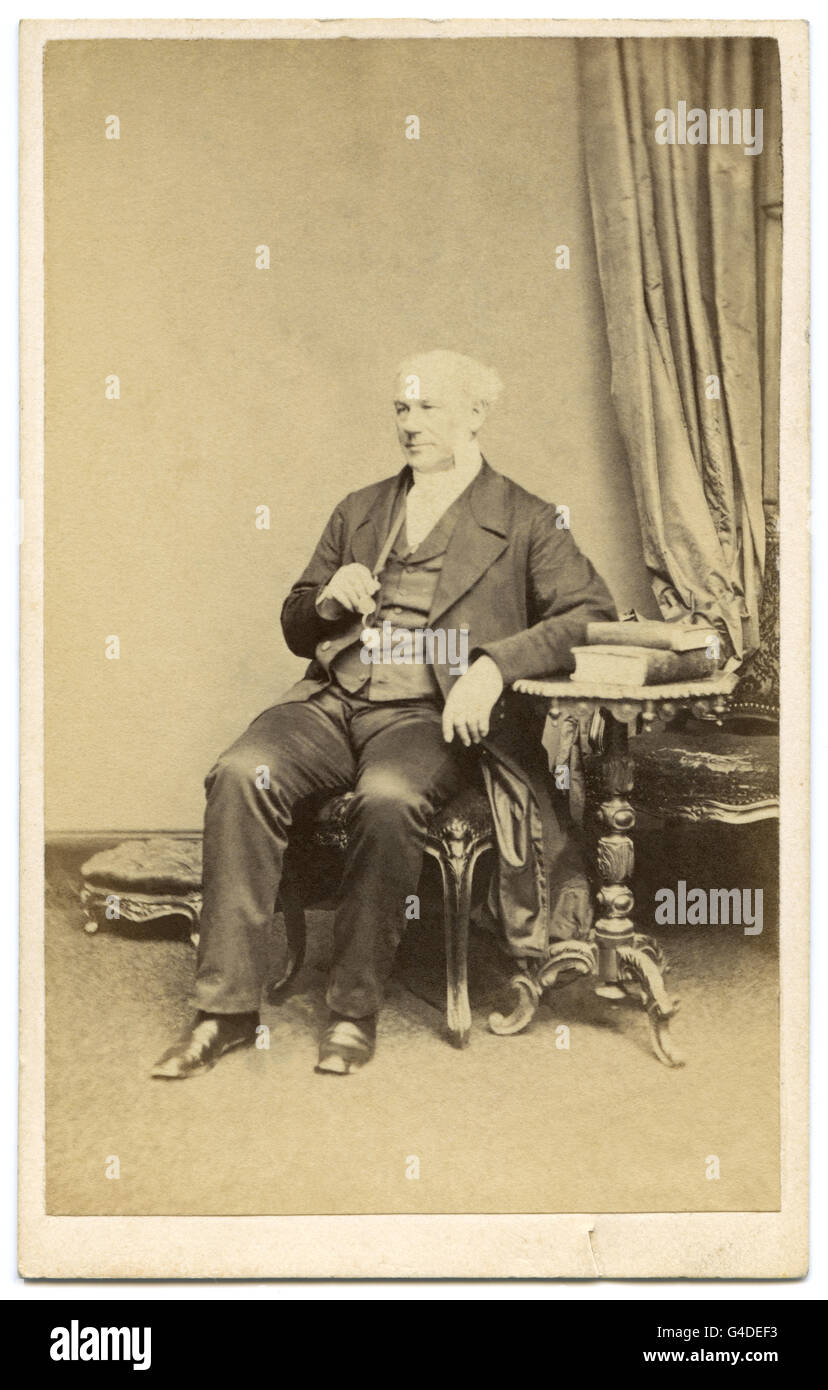 John Venn (1802-1890), evangelical Christian minister and Vicar of St. Peter's Church in Hereford, UK, was a - Stock Image
