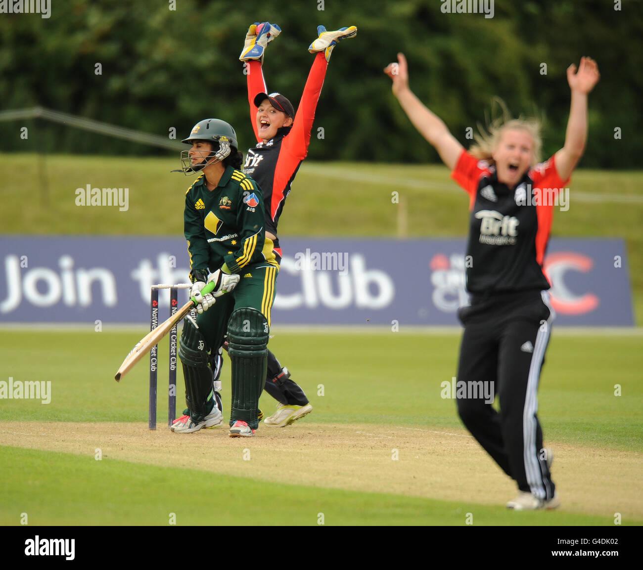 Cricket - Natwest Women's Quadrangular Twenty20 - Final - England v Australia - Sir Paul Getty's Ground - Stock Image