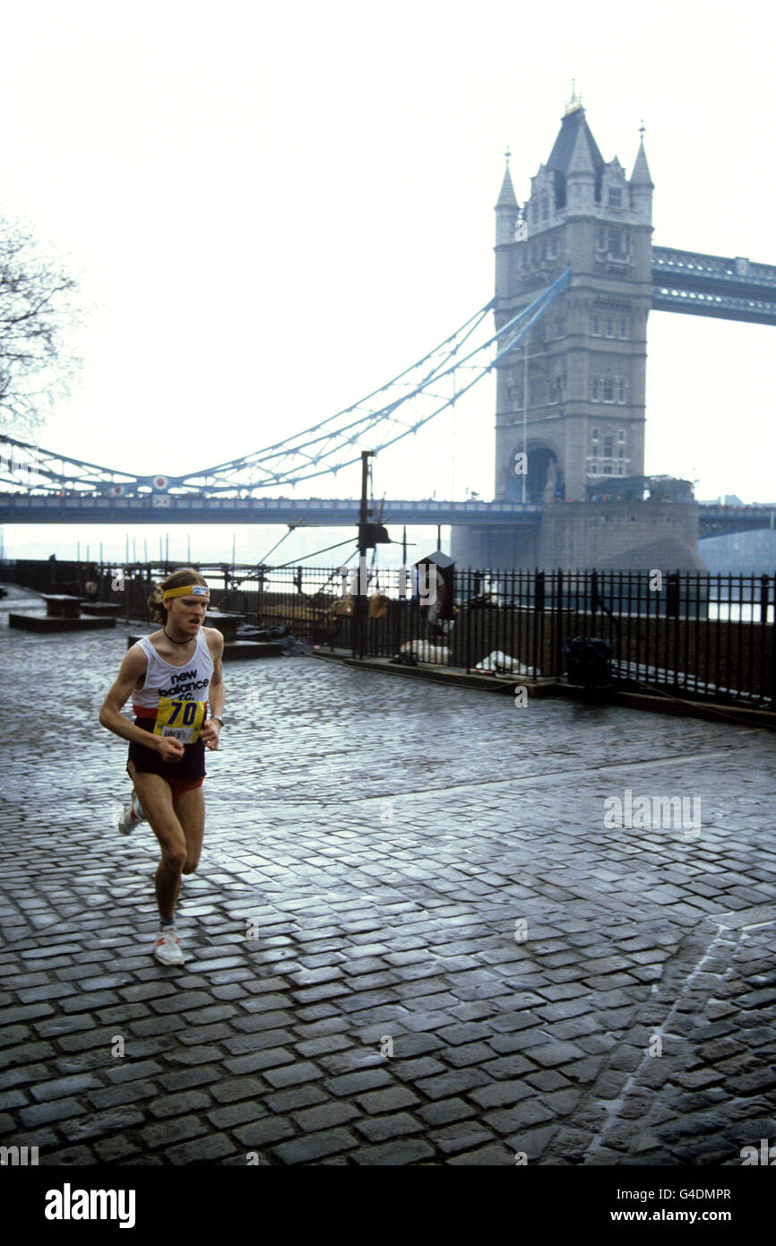 Athletics - London Marathon 1983 - Stock Image