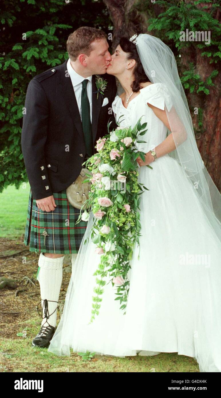 Andy Nicol wedding - Stock Image