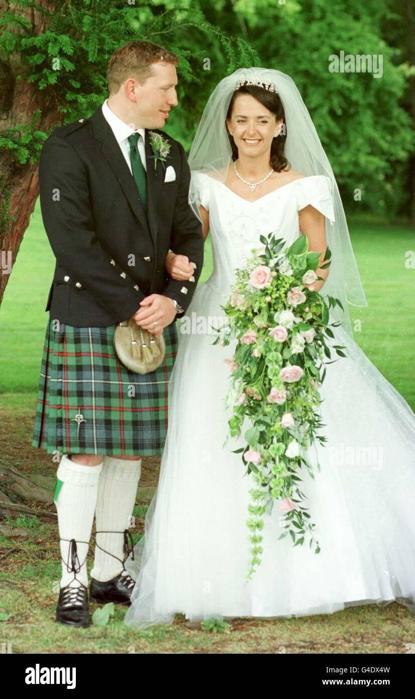 Andy Nicol wedding 2 - Stock Image