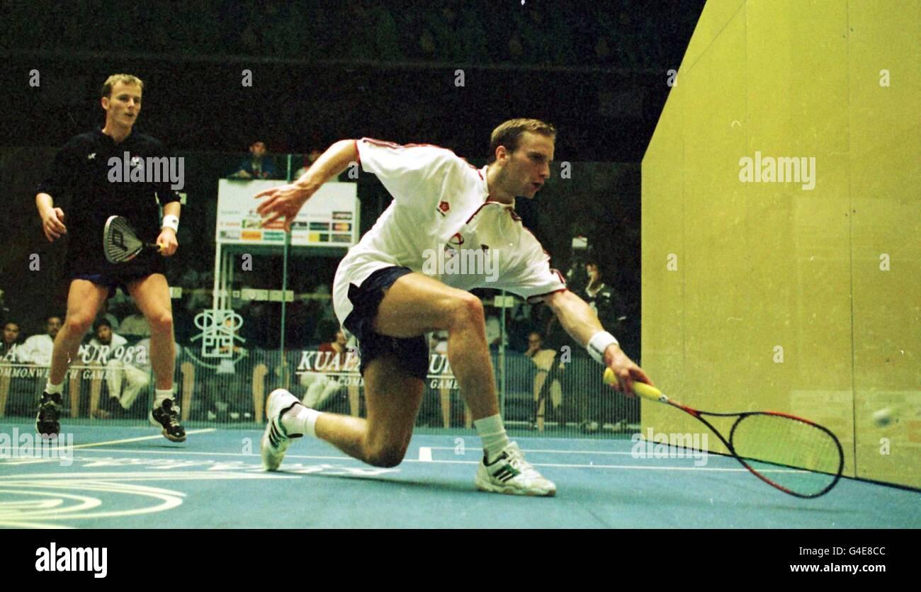 GAMES Squash/Chaloner/Nicol - Stock Image