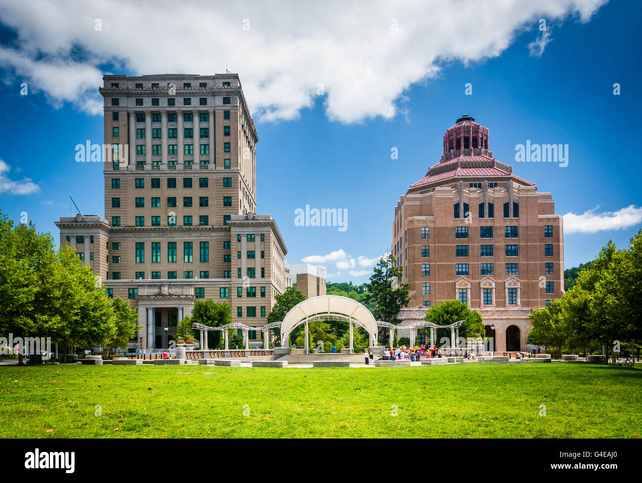 Buncombe County Courthouse and Asheville City Hall, in Asheville, North Carolina. - Stock Image