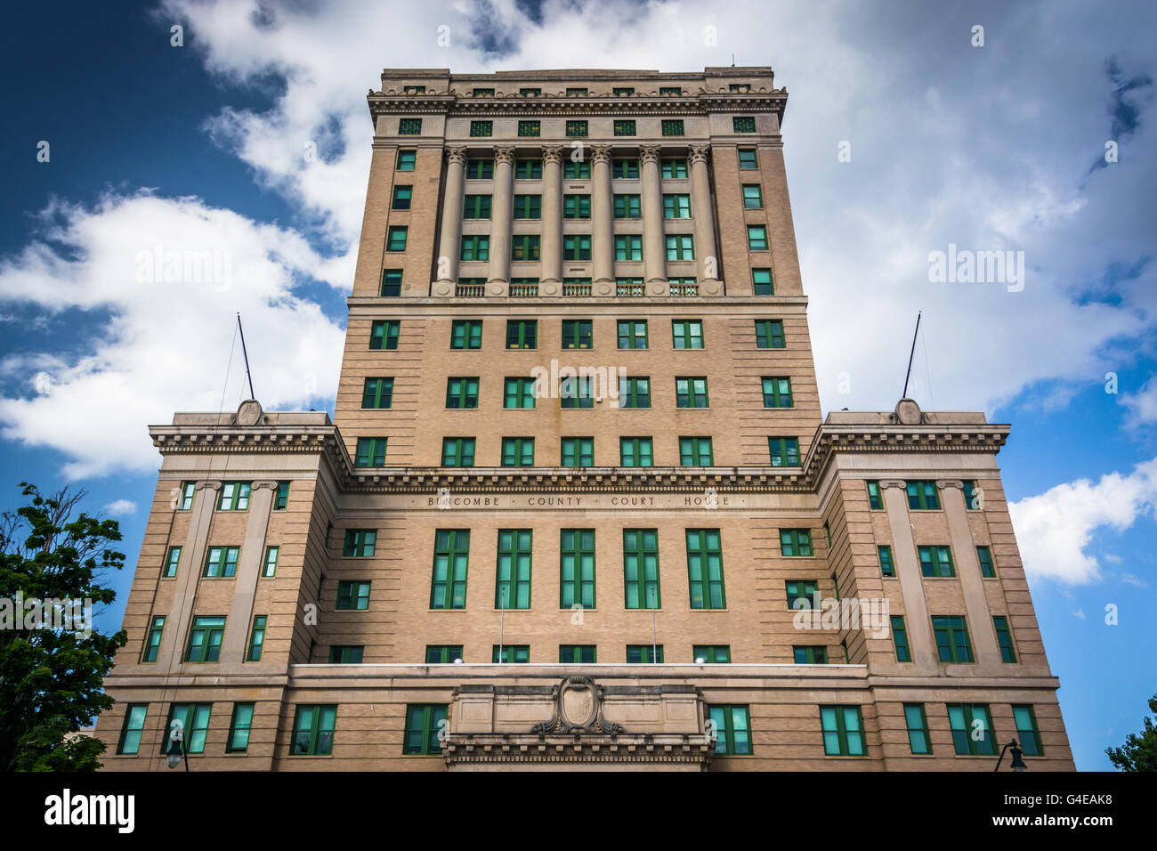 Buncombe County Courthouse in Asheville, North Carolina. - Stock Image