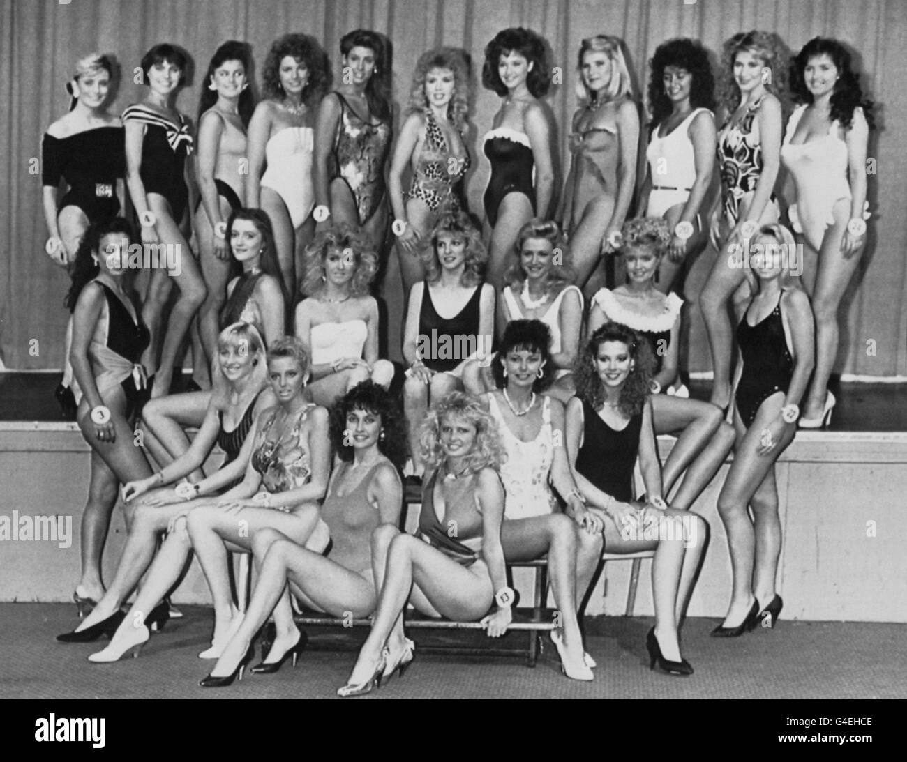 Entertainment - Miss Miss United Kingdom 1989 - Birmingham - Stock Image