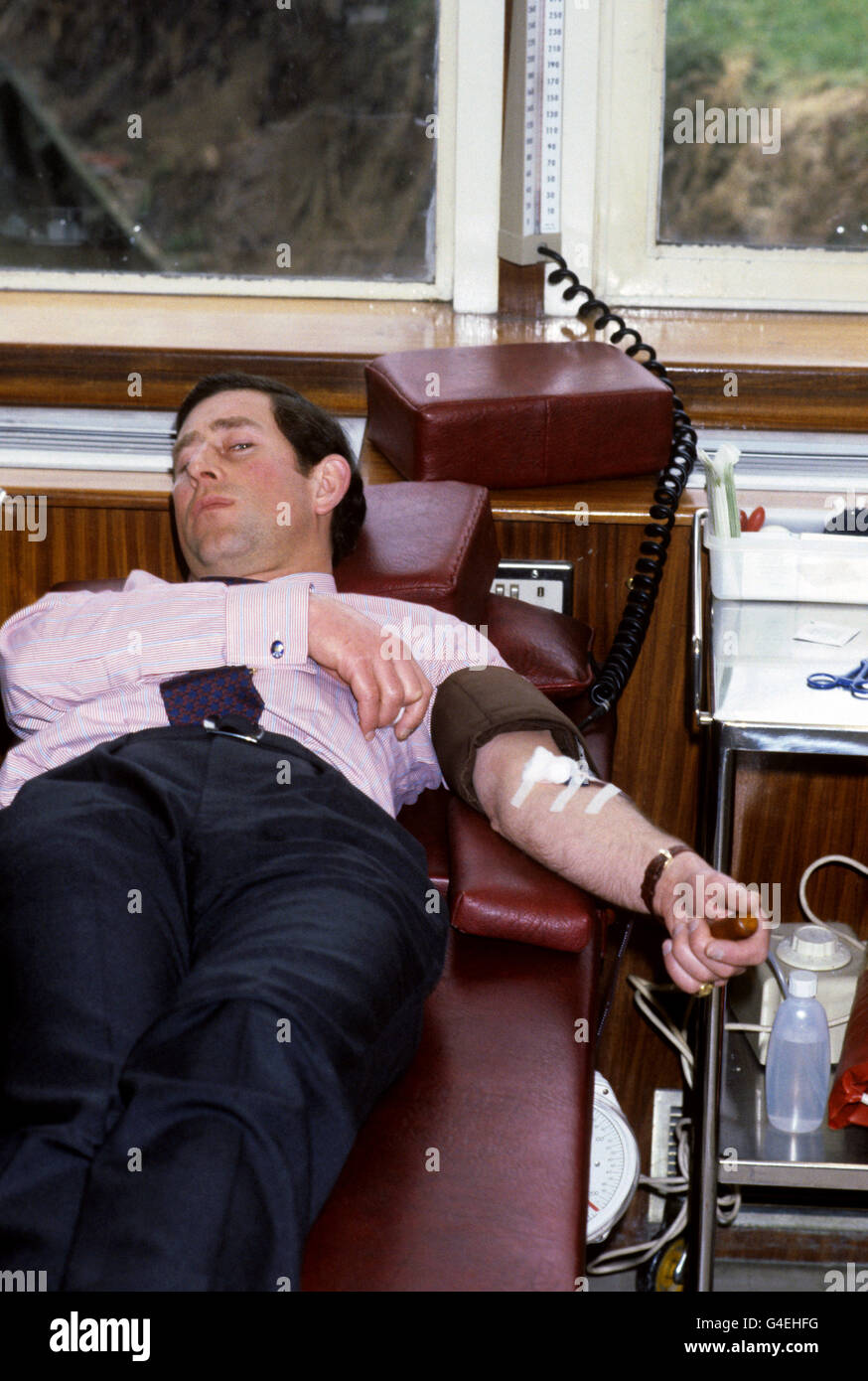 Royalty - Prince of Wales - North London Blood Transfusion Centre - Stock Image