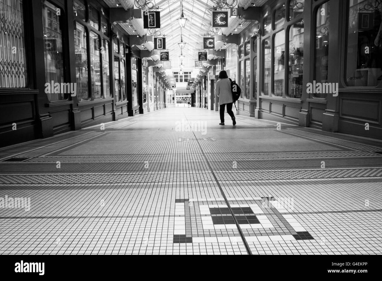 Thorntons Arcade, Leeds, West Yorkshire, England. - Stock Image