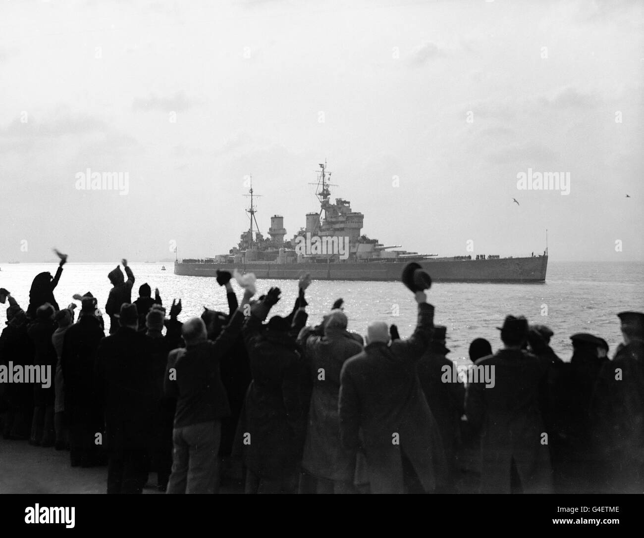 Military - King George V Battleship - Portsmouth - Stock Image