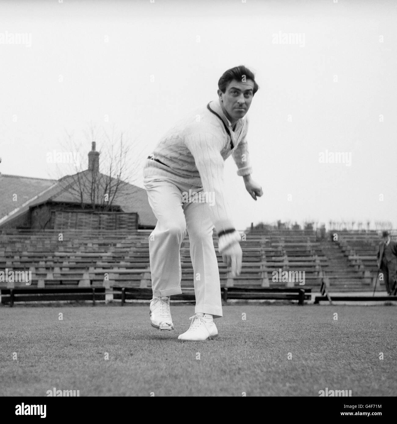 Cricket - Yorkshire CCC - Fred Trueman - Stock Image