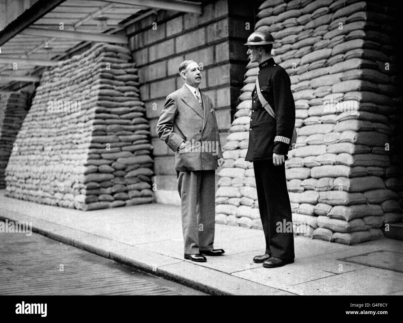 World War Two - British Empire - Home Front - Air Raid Precautions - London - 1939 - Stock Image