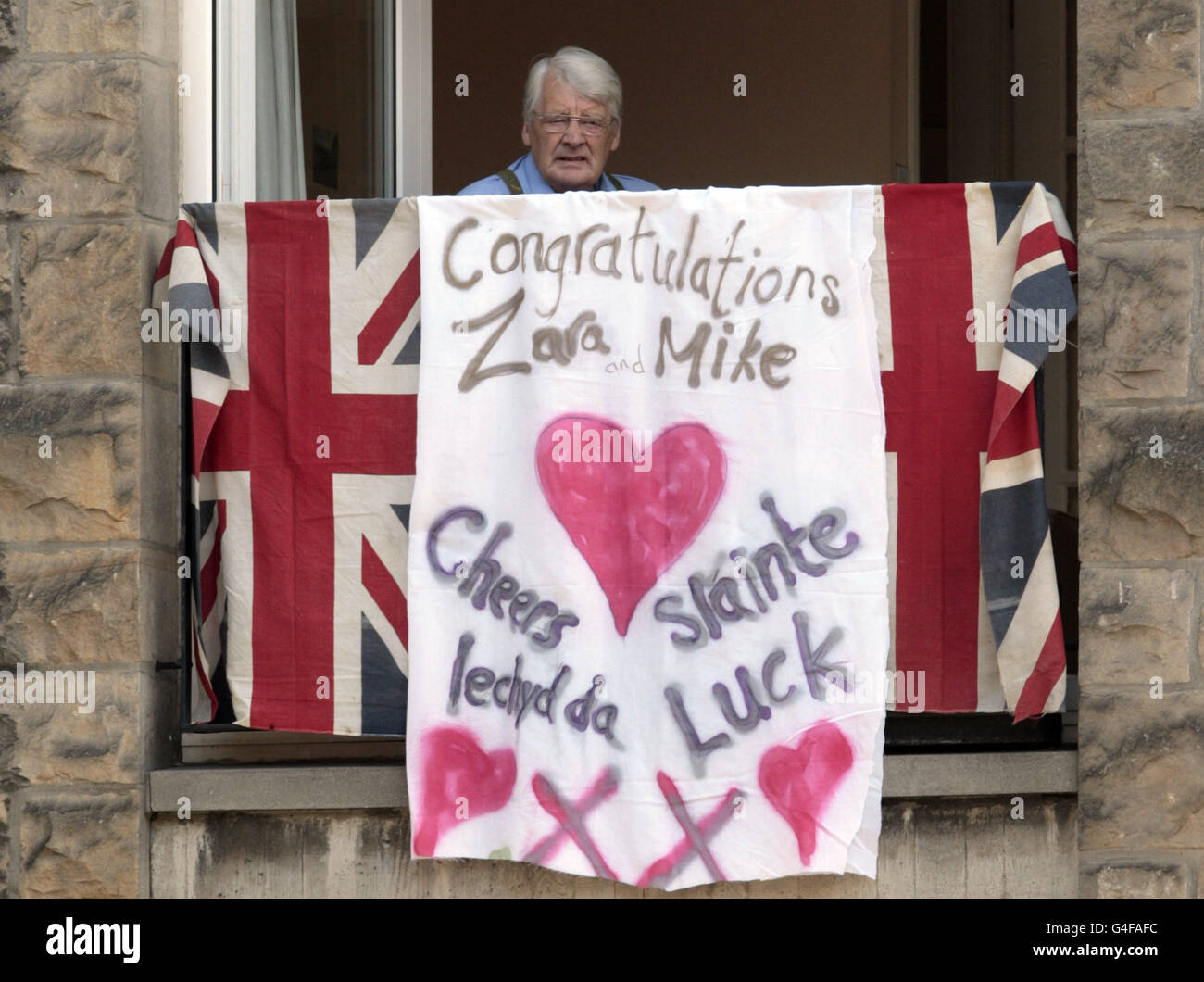 Zara Phillips and Mike Tindall wedding Stock Photo