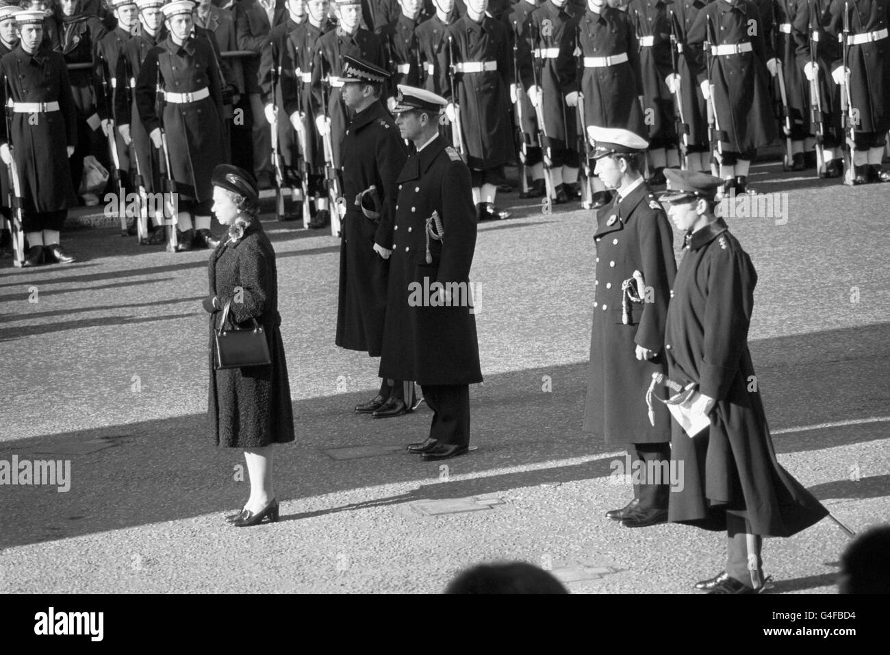 Royalty - Royal Family - Remembrance Day - Cenotaph, London - Stock Image