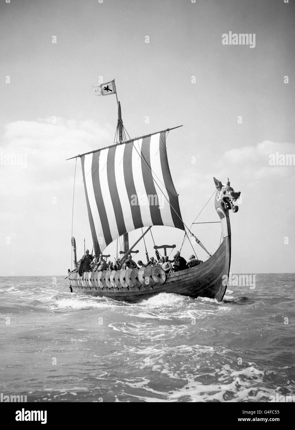 Invasion - Viking Boat 'Hugin' - Kent - Stock Image