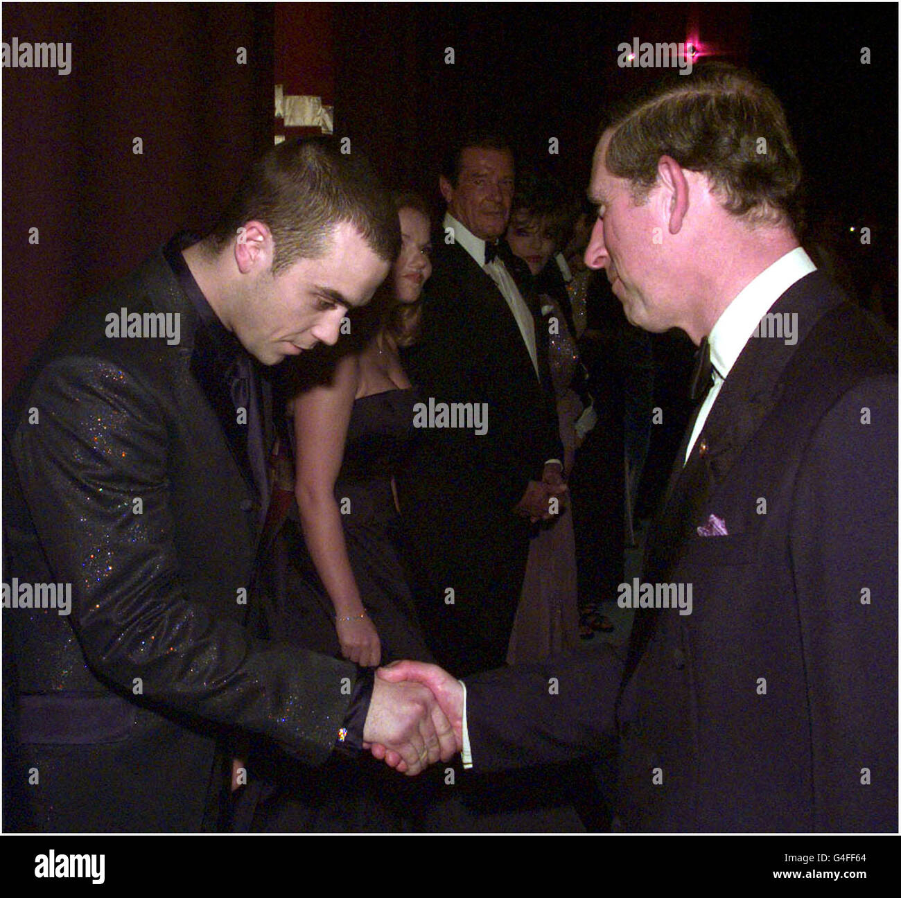 PRINCE CHARLES 50TH BIRTHDAY/Robbie Williams Stock Photo