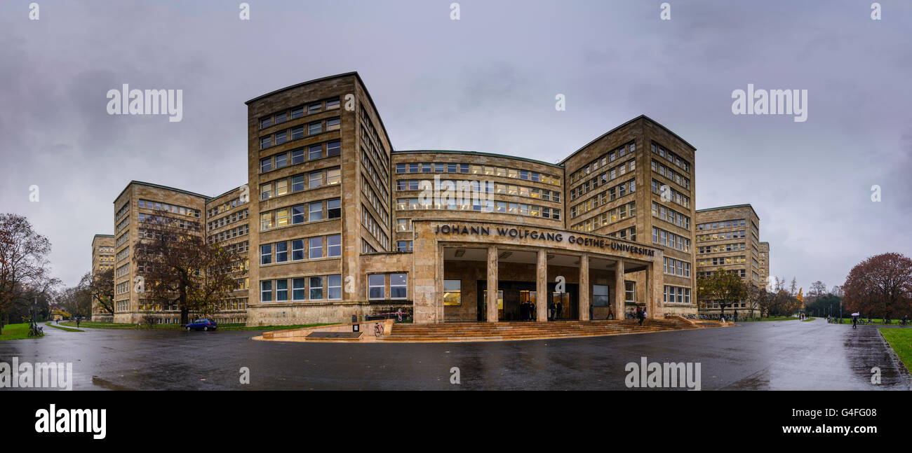 Johann Wolfgang Goethe University : former IG Farben Building or Poelzig Building, Germany, Hessen, Hesse, , Frankfurt Stock Photo
