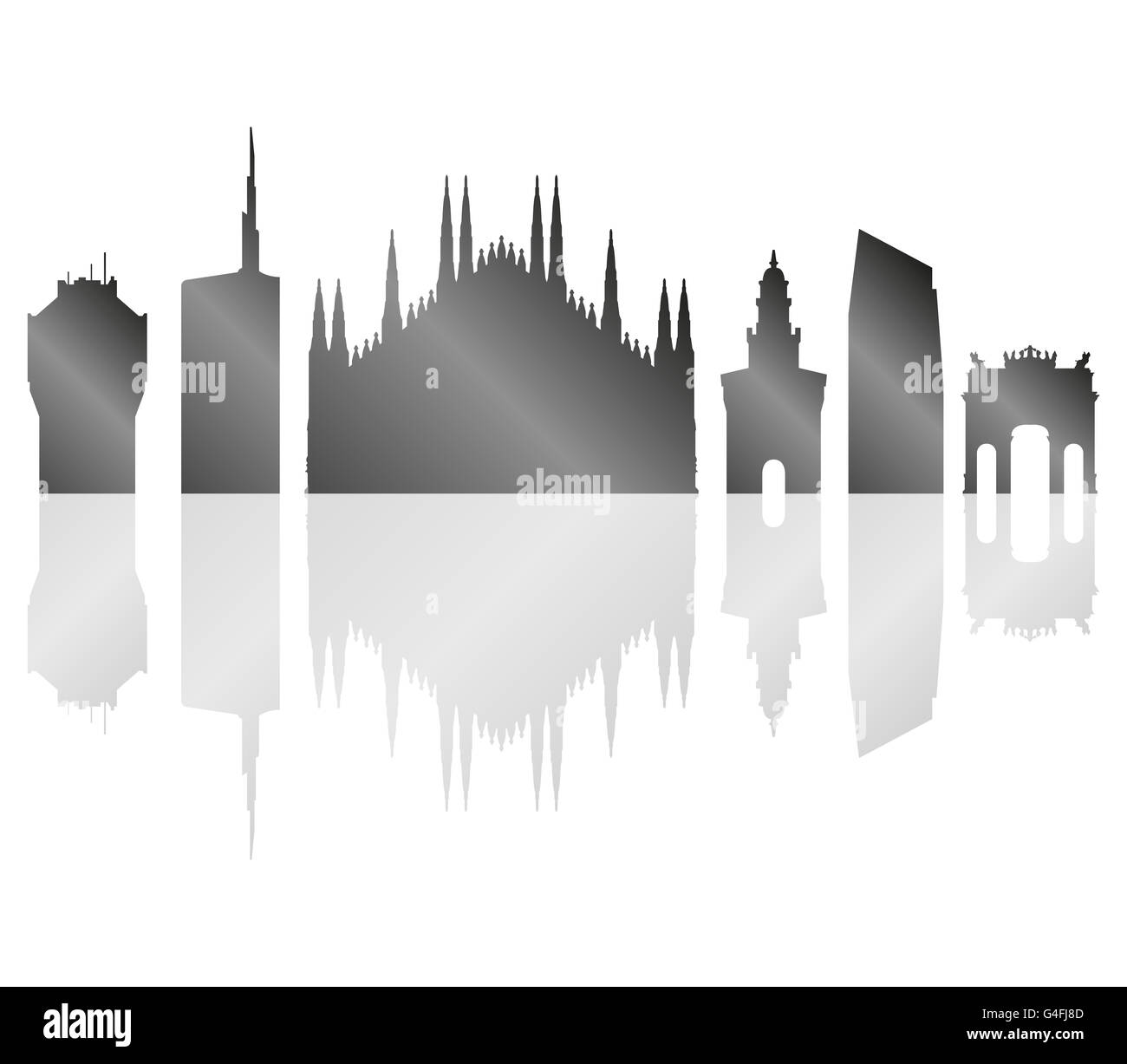 milano skyline - Stock Image