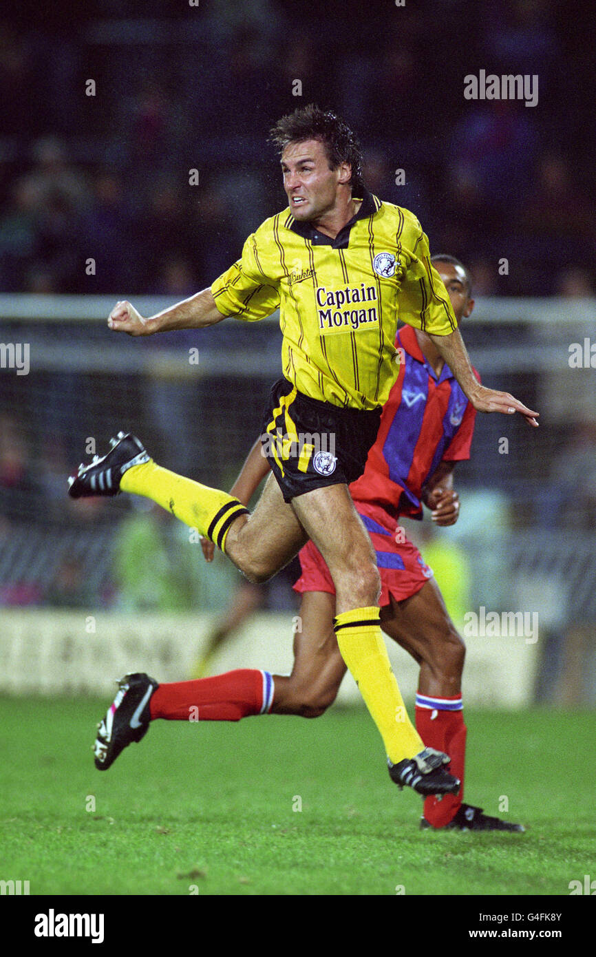 Soccer - Anglo-Italian Cup Qualifier - Group 8 - Crystal Palace v Millwall - Stock Image