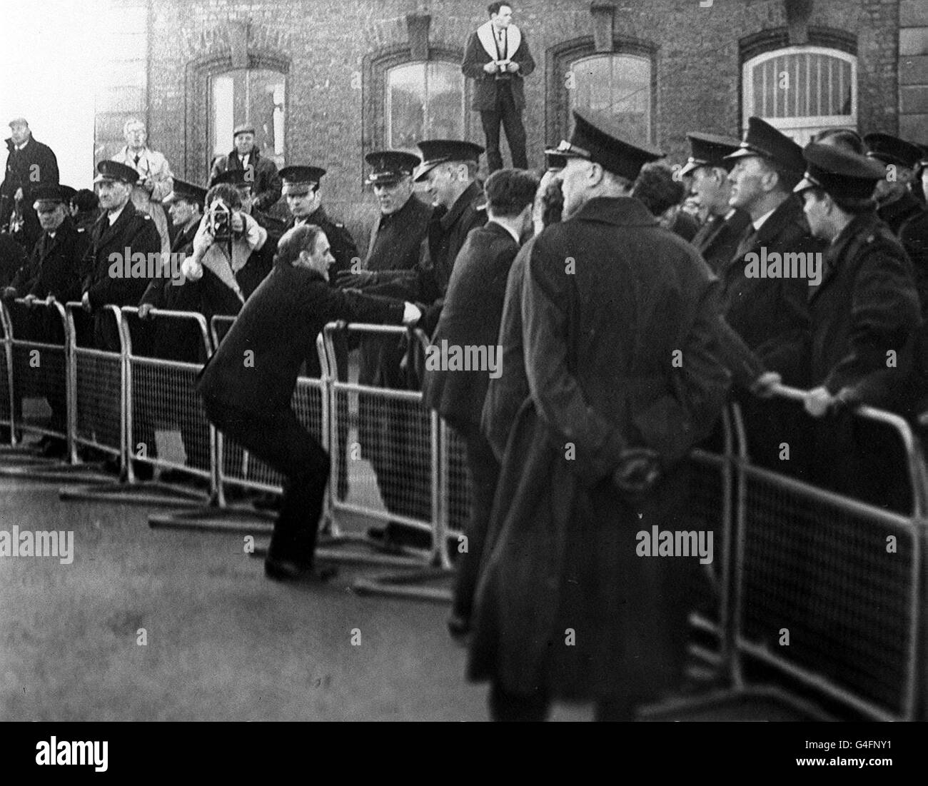 PA NEWS PHOTO 17/11/68 THE SCENE AT LONDONDERRY IN NORTHERN IRELAND DURING THE CIVIL RIGHTS DEMONSTRATIONS - Stock Image