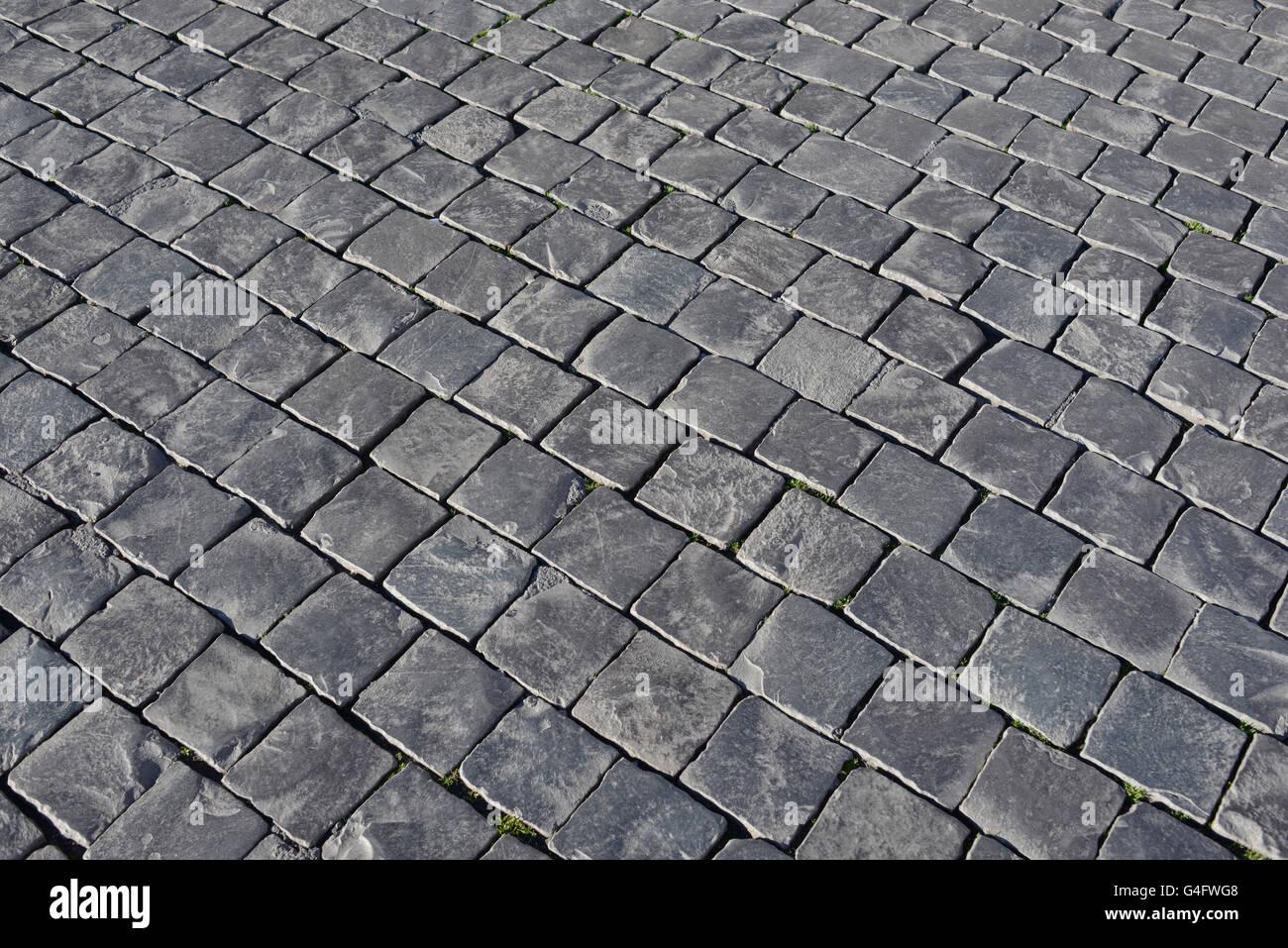 Grey stone cobblestone background Stock Photo