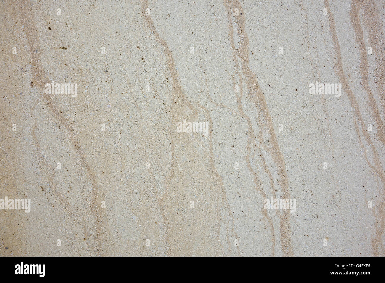 Finely textured worn veined marble travertine stone background Stock Photo