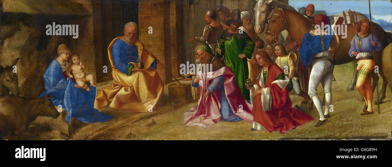 Giorgione - The Adoration of the Kings - Stock Image