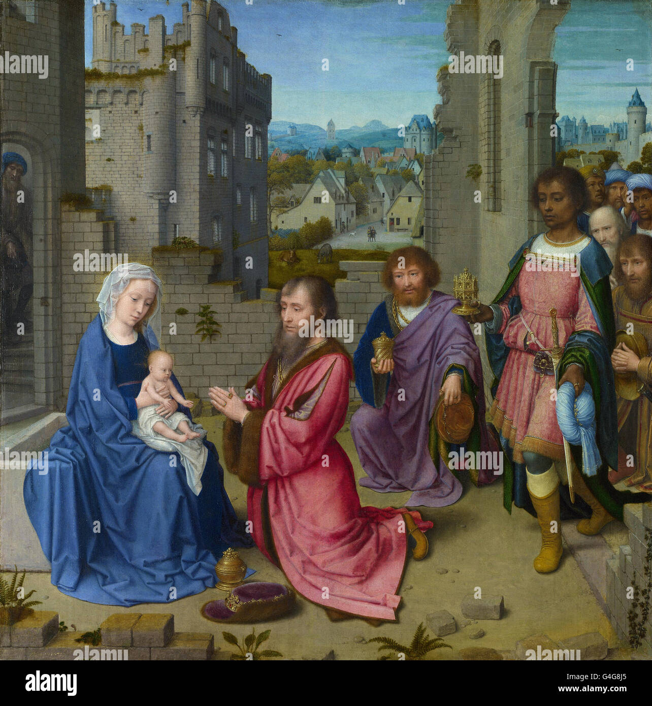 Gerard David - Adoration of the Kings - Stock Image