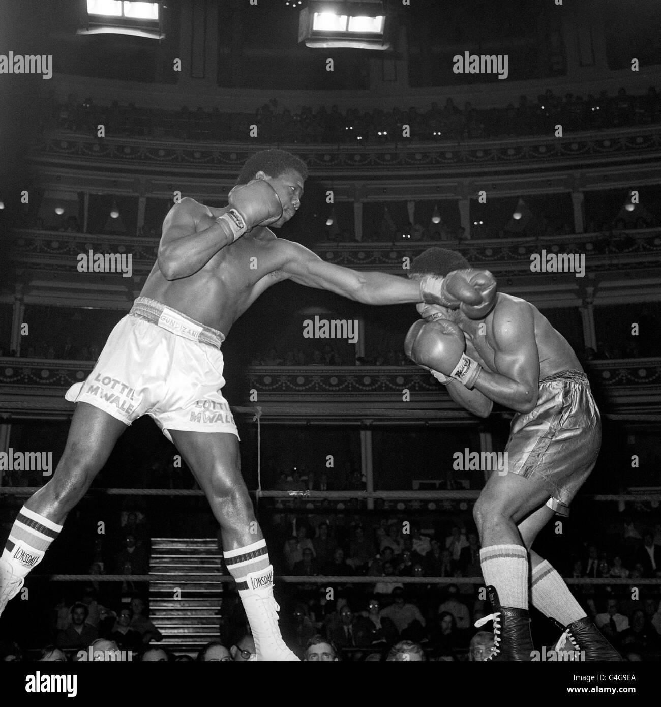 Boxing - Lottie Mwale - Stock Image