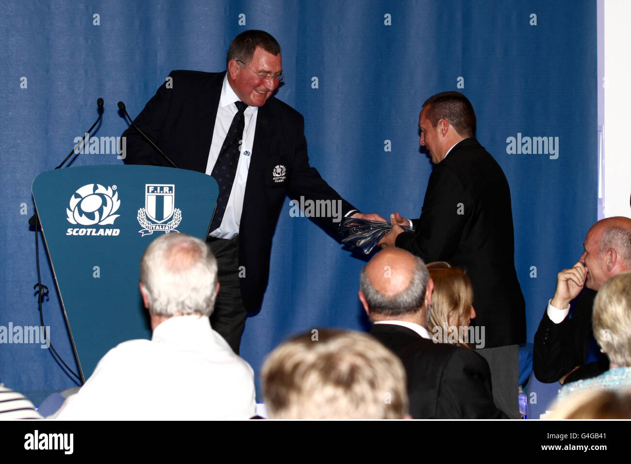 Rugby Union - EMC Test Match - Scotland v Italy - Murrayfield - Stock Image