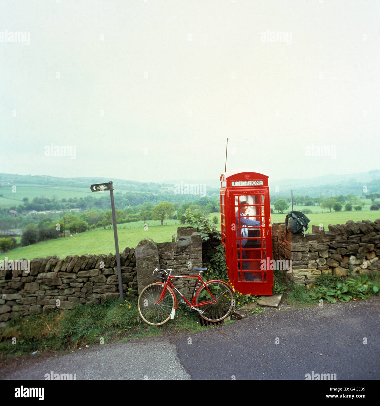 Customs & Traditions - Telephone Booth - Stock Image
