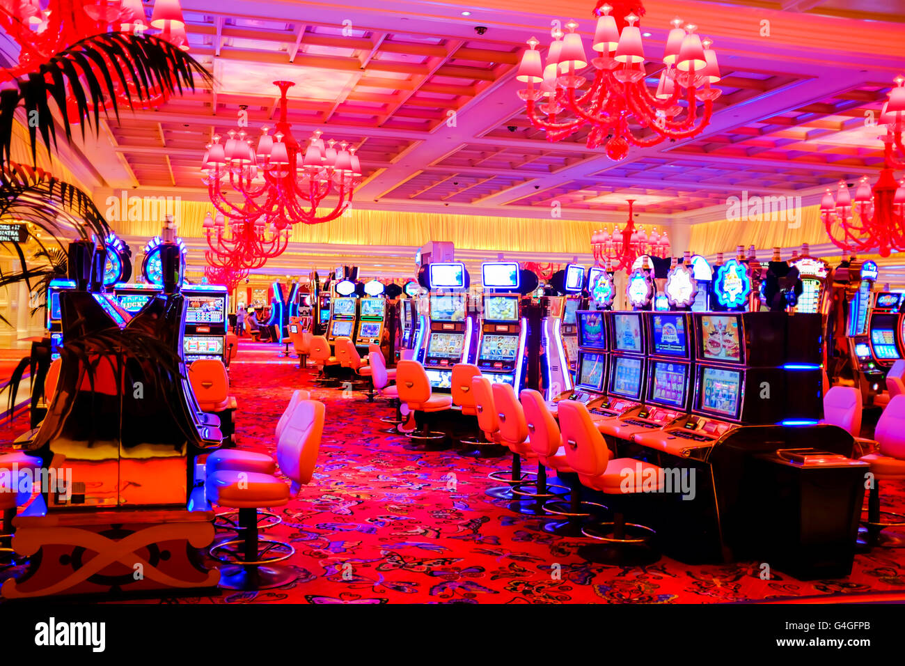 The interior of Encore Hotel and casino in Las Vegas - Stock Image