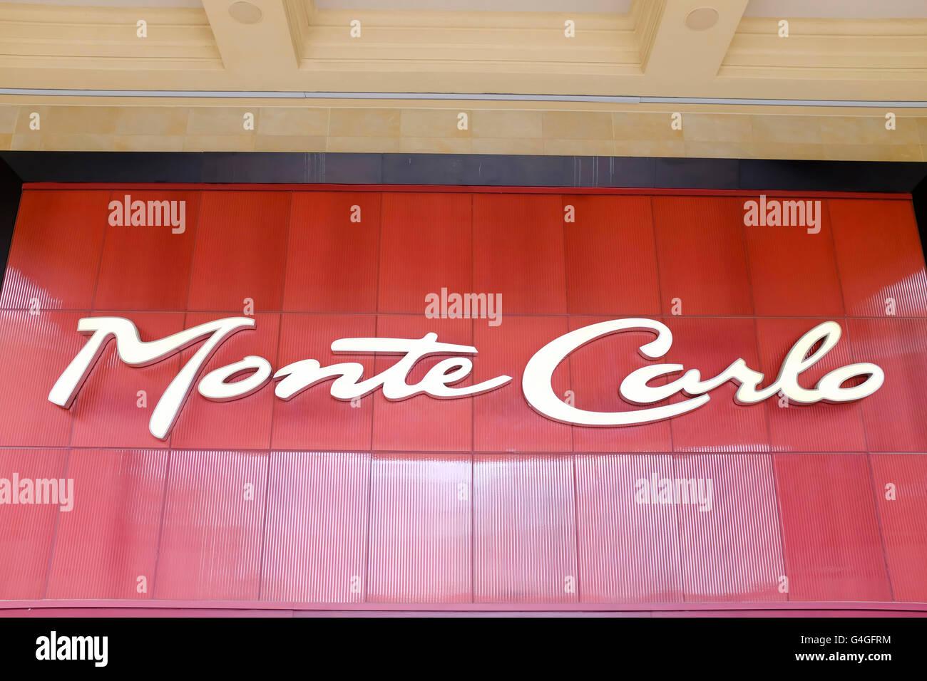 Monte Carlo Hotel and Casino, Las Vegas, Nevada. - Stock Image