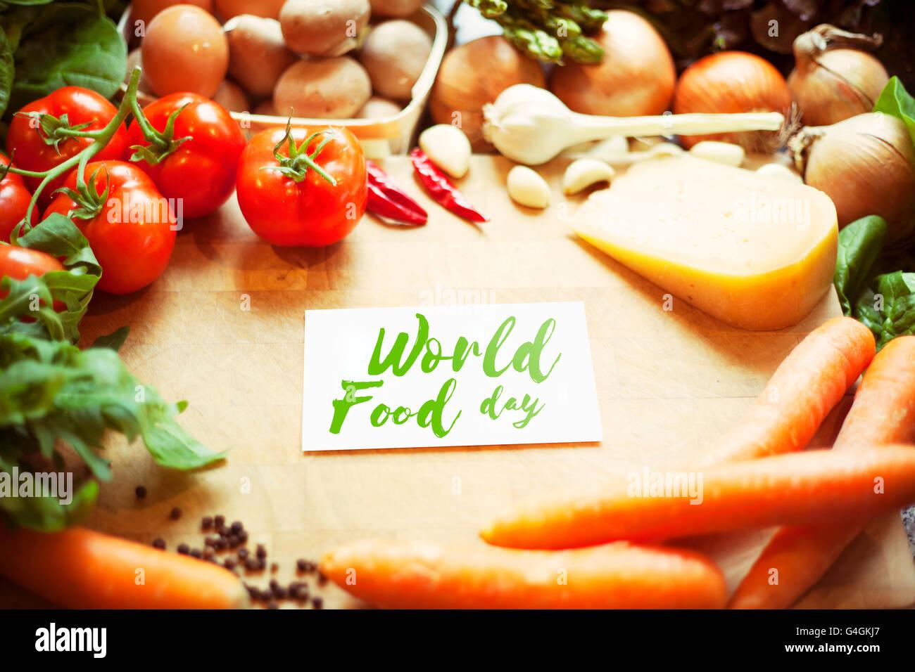 International Food Day - Stock Image