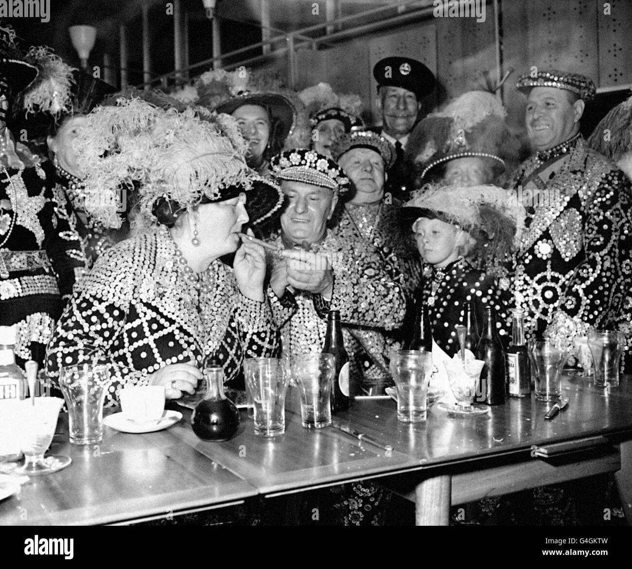 Customs and Traditions - Pearly Kings and Queens - London - Stock Image
