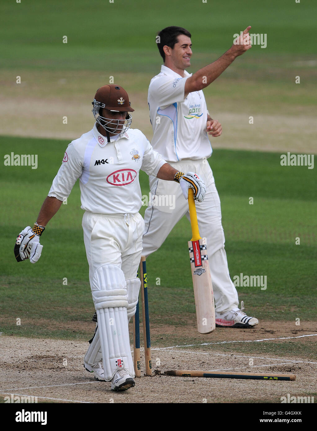 Cricket - Liverpool Victoria County Championship - Division Two - Day One - Surrey v Derbyshire - The Kia Oval - Stock Image