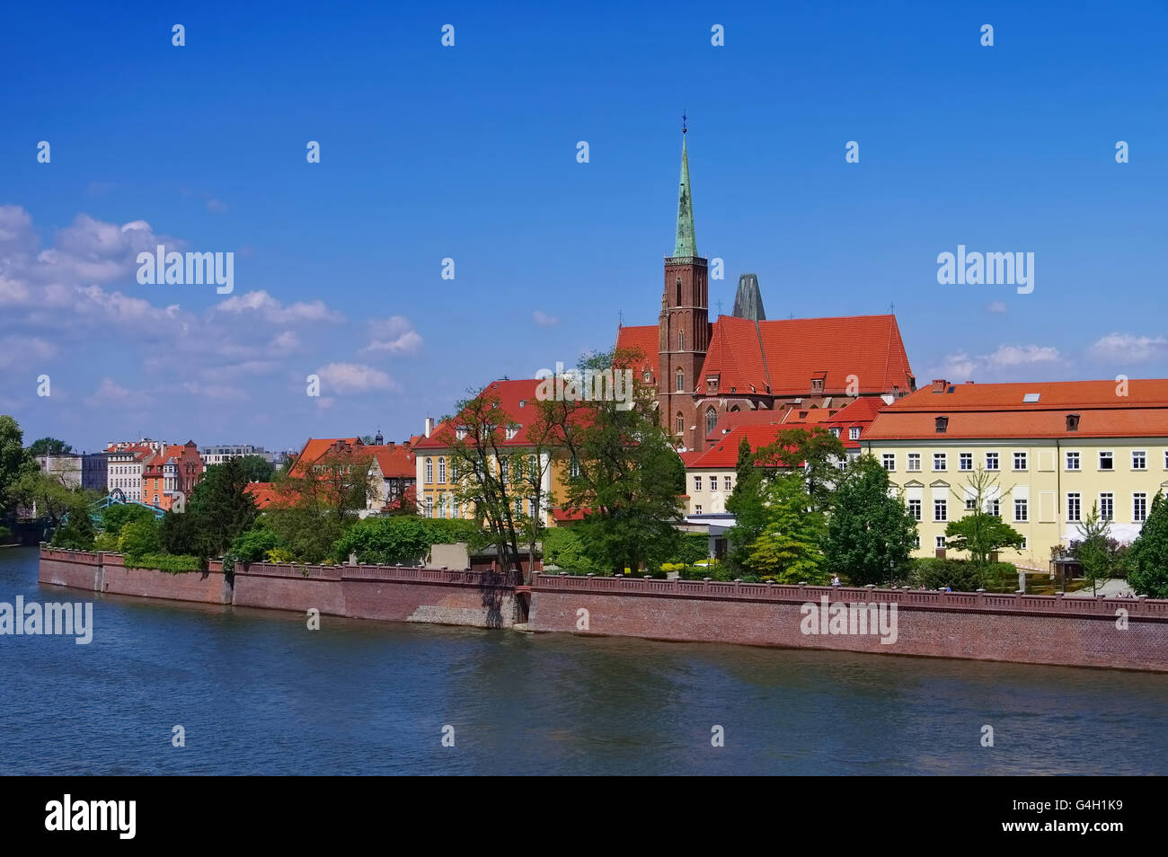 Breslau Stiftskirche zum Heiligen Kreuz und St. Bartholomäus - Breslau Collegiate Church of the Holy Cross and St. Stock Photo