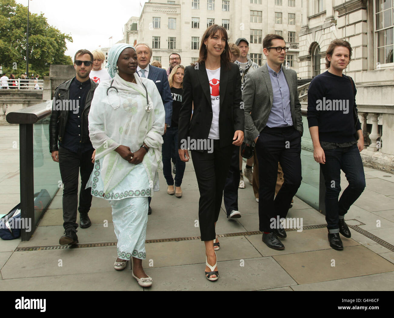 Save The Children's 'Fashion Mile Born to Walk Tall' campaign launch - Stock Image