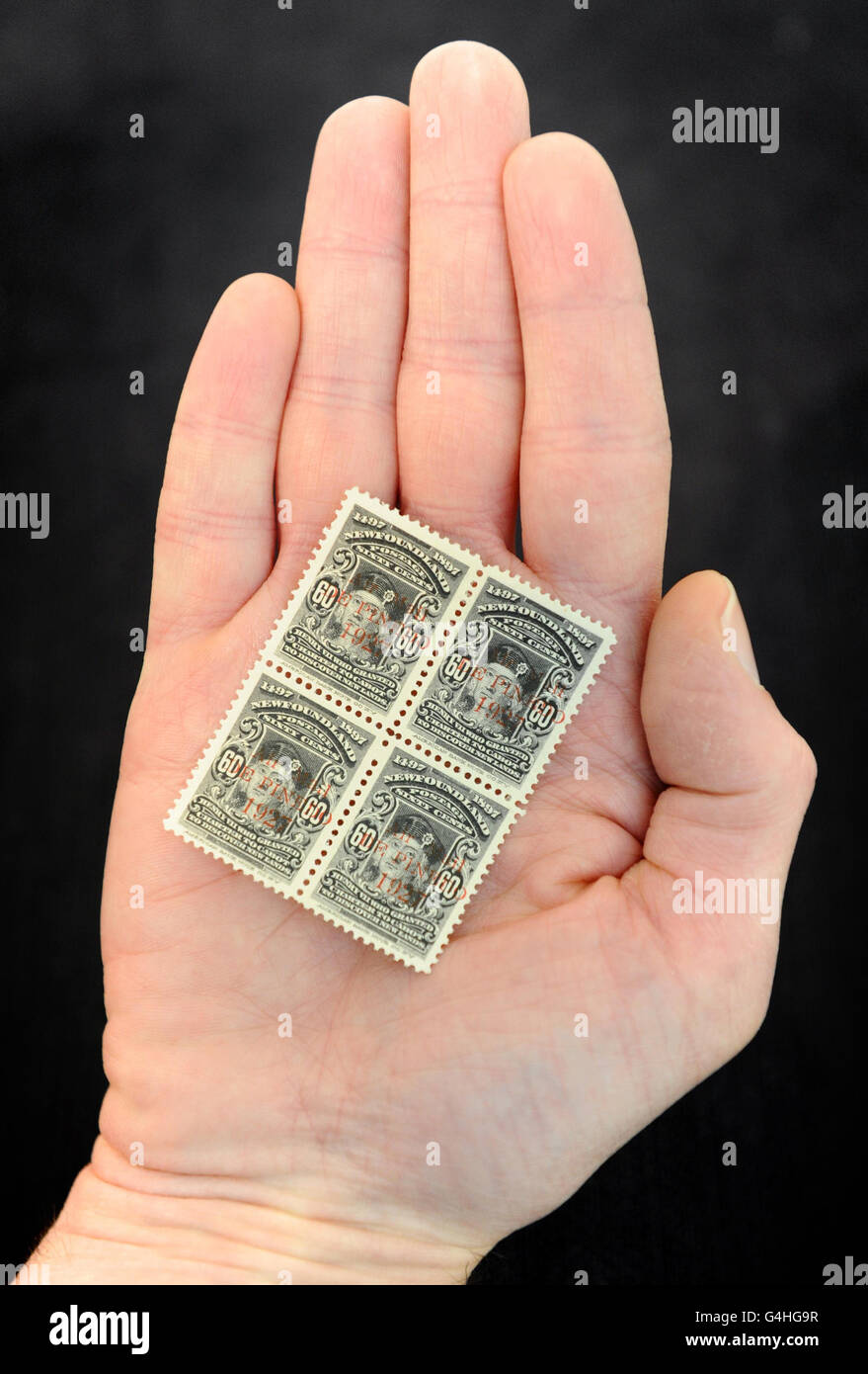 Philatelic Collection of Lord Steinberg auction - Stock Image