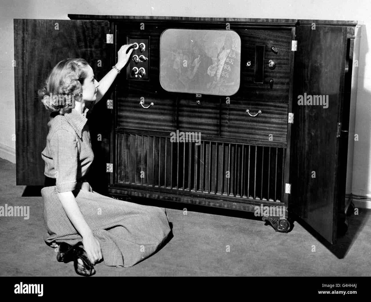 luxury Television Set - 1951 - Stock Image