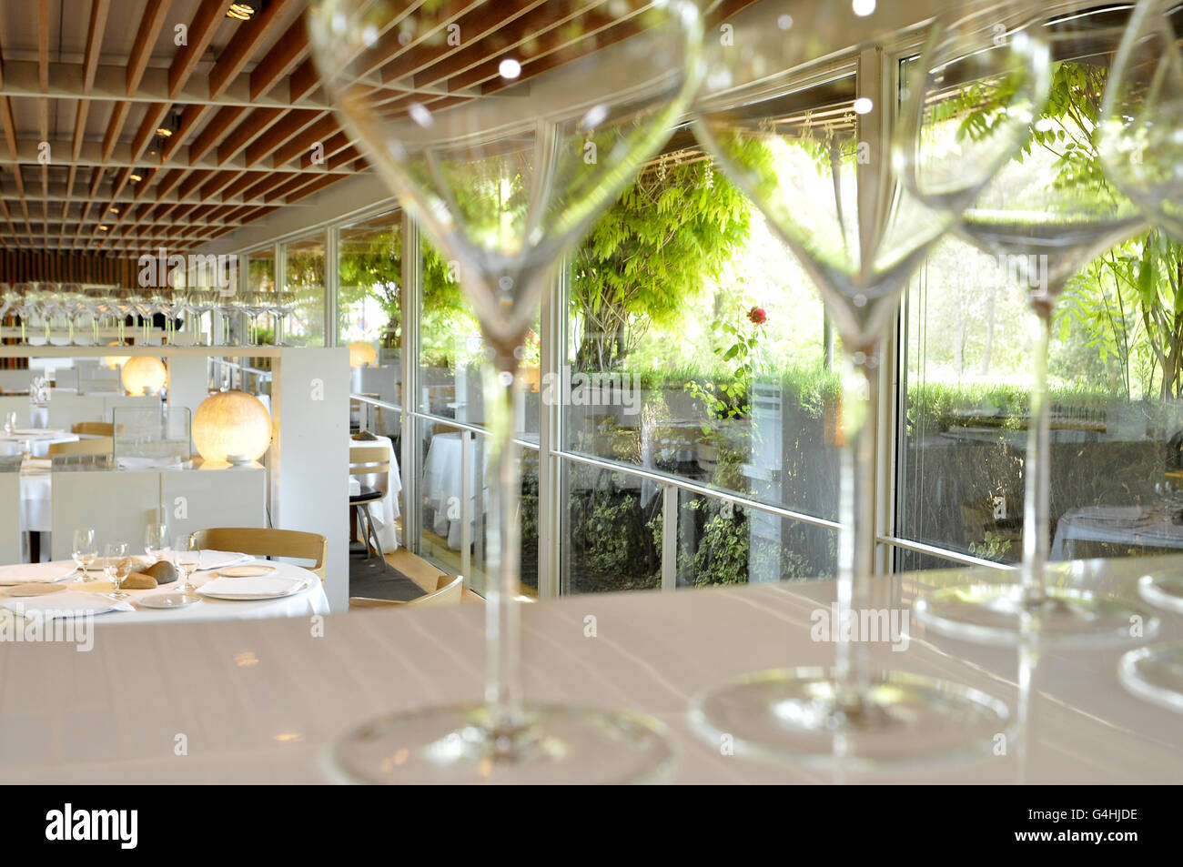 El Celler de Can Roca restaurant in Girona, Catalonia, Spain. - Stock Image